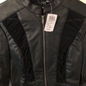 Jackets & Coats - Leather coverup jacket